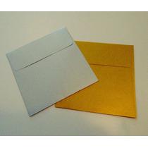 Sobres Cuadrados 16 X 16 Dorados Y Plateados Pack X 25 Unid
