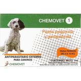 Pipeta Antipulgas Y Garrapatas Chemovet 1 (2 A 10 Kg) 10+1
