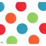 Cetim Estampado Bolas Coloridas - Peça Com 4 M X 1,48 M