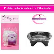 Protetor Descartável P/ Bacia Pedicure 100 Unid 68cmx68cm