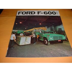 Folder Raro Ford Caminhao F-600 73 1973 74 1974 V8 Completo
