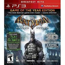 Batman Arkhan Asylum - Game Of The Year Edition Ps3 - {3d}