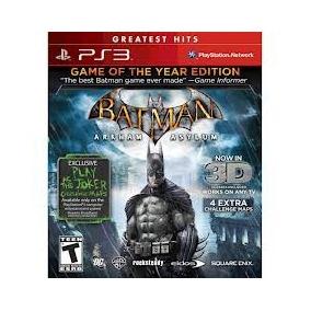Batman Arkhan Asylum - Game Of The Year Edition Ps3 - {3d}