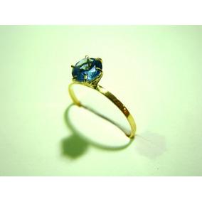 Anel De Ouro Pedra Azul Agua Marinha - Joias e Relógios no Mercado ... 726d2a3eac