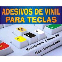 Adesivo De Vinil P/teclados @@ Letras Grandes Ou Normais