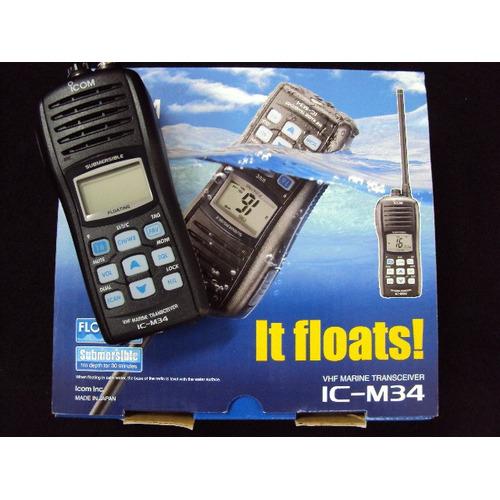 Rádio De Comunica??o Icom Vhf Portatil  - Ic M34 - Flutuante