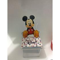 Caixinha Ou Latinhas Mickey Em 3d