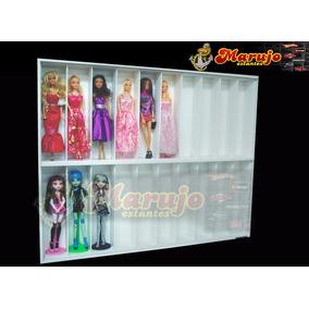 Estante Boneca Barbie Monster High 20 Nichos Marujo Estantes