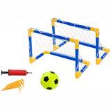 Par Traves Mini Gol Futebol + Bola Redes Bel Fix