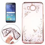 Funda Back Cover Tpu Pedrería Samsung Galaxy J7 Orilla Rosa