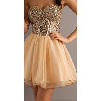 Vestido Dourado Tigresa - Manequins 42/44