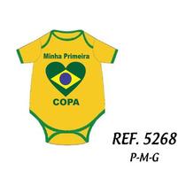 Body Infantil Minha Primeira Copa Do Mundo 2014personalizado