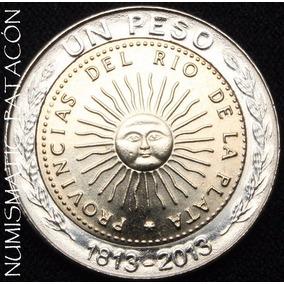 Moneda De 1 Peso 1813 - 2013 Sin Circular