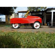 Auto De Pedales De Lamina Antiguo