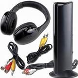 Fone De Ouvido Sem Fio 5 In 1 Fm Mp3 Tv Dvd Xbox Ps3 Smart