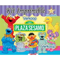 Kit Imprimible Plaza Sesamo Candy Bar Fiesta