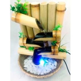 Fonte/agua/cascata/bambu 5 Quedas C/ Ilum.