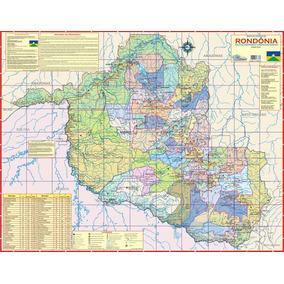 Mapa Geo Político Rodoviário Estado De Rondônia 1,20 X 0,90m