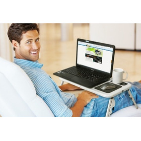 Mesa Con Cooler Para Laptop Posa Vaso Y Mouse