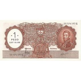 Billete $100 M/nac. Resellado A $1 Ley 18.188 De 1971 S/c