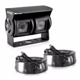 Pyle Camara Retroceso Dual Plcmtr26 Vision Nocturna 24v 12v