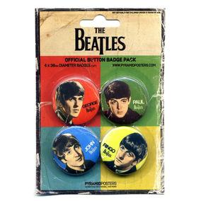 The Beatles Memorabilia - 4 Bottons Originais Autorizados