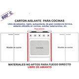 20 Placas Carton Aislante Para Cocinas Estufas No Amianto
