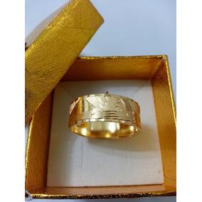 Leão Jóias Anel Aliança De Ouro Escrava 18k 7mm Certificado