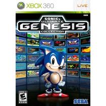 Sonic Ultim.40 Jogos Genesis Megadrive Mídia Física Xbox 360