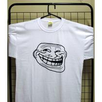 Camiseta Personalizada Engraçada Memes Troll Face Presente
