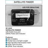 Sat Finder Localizador Satelites Aska Sf-9522 Tv Tono Luz