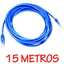 Cabo De Rede Clipado Crimpado 15 Metros Internet