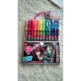 Material Escolar Canetinhas Coloridas 12 Cores Monster High