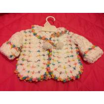 Campera Tejida Al Crochet Con Detalles.
