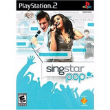 Singstar Pop! + 2 Microfonos Usb Compatibles Pc Ps2 Ps3 Ps4
