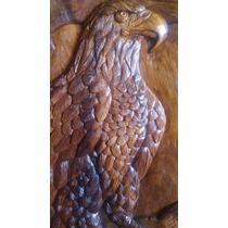 Retablo De Aguila Tallado En Madera De Huanacaste