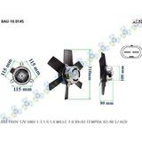 Ventoinha Radiador Fiat Uno 1.6/1.6 Mpi 1.6r 1.7d - Bauen