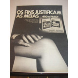 ( L - 290 ) Propaganda Antiga Rhodianyl Meia Calça Drastosa