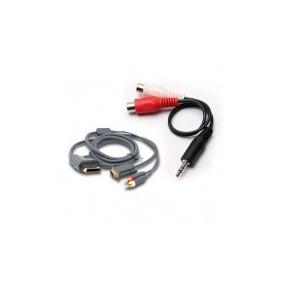 Cabo Vga + Audio Para Xbox360 Com Adaptador 3,5 Mm