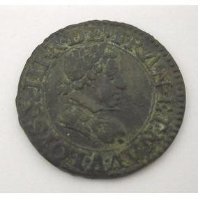 Rccml181 Rara Moeda Da França De Bronze 1622 Luis Xiii