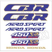 Kit Jogo Faixa Adesivo Honda Cbr 450sr