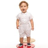 Conjunto Social Bebê Bermuda, Camisa M Curtas E Suspensórios