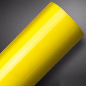 Vinil Adesivo Ultra Amarelo Banana Yellow Alltak / 3m X 1m