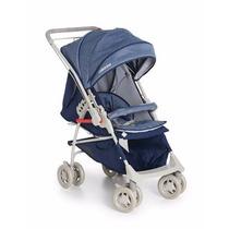Carrinho De Bebê Maranello Azul Marinho Galzerano
