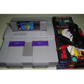 Super Nintendo + 2 Controles + Super Mario + Promoção!!!!!