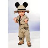 Roupa Mickey Safari Infantil C/ Chapéu - Frete Gratis