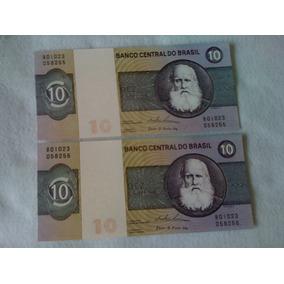 Jogo C/ Cedulas Notas De Dez Cruzeiros Serie B01023