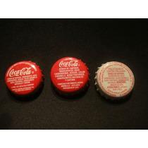 3 Tampinhas Chile Promoção Coca-cola Refrigerante