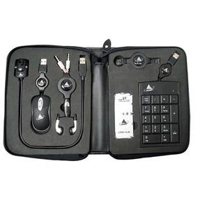 Kit Para Notebook Com Mini Mouse, Webcam, Hub, Teclado Numer