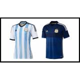 Camiseta Argentina Climacool Titular O Suplente Mundial 2014